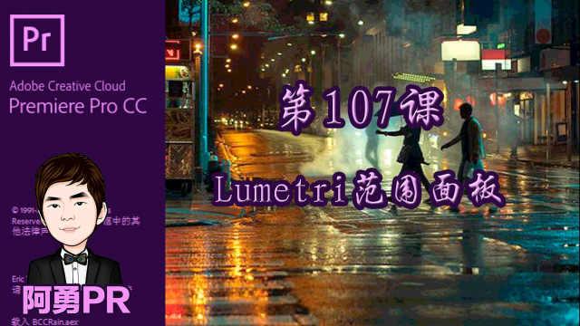 第107課:Lumetri范圍面板介紹