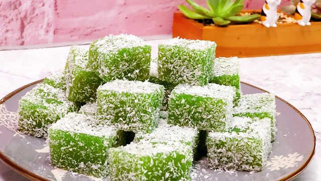 黄瓜凉糕,无比清爽顺滑的味道!