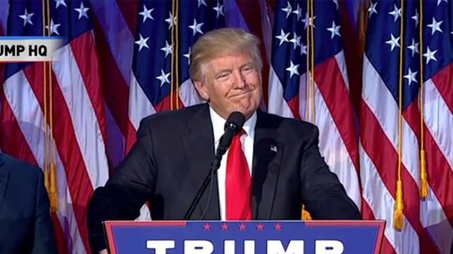 川普当选,发言感谢家人