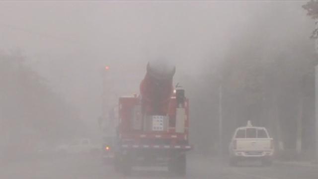 雾霾何止在北京!成都雾炮车已上街
