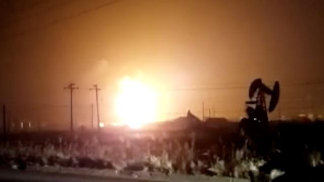 东营化工厂附近油罐车爆炸,致5伤