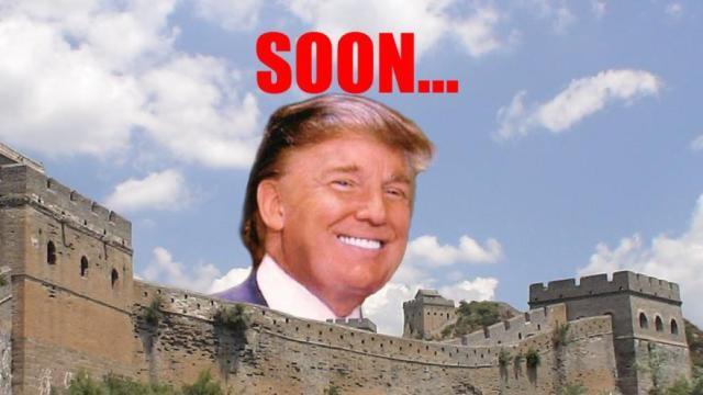 川普:明天是个大日子,我们要建墙了