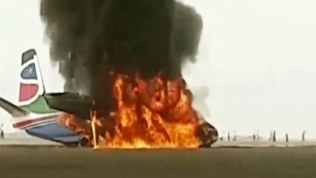 南苏丹客机坠毁,所有乘客奇迹生还