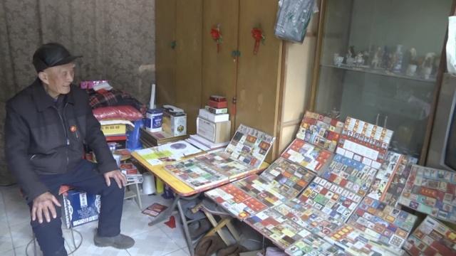 酷!8旬翁40年收藏千余火柴盒
