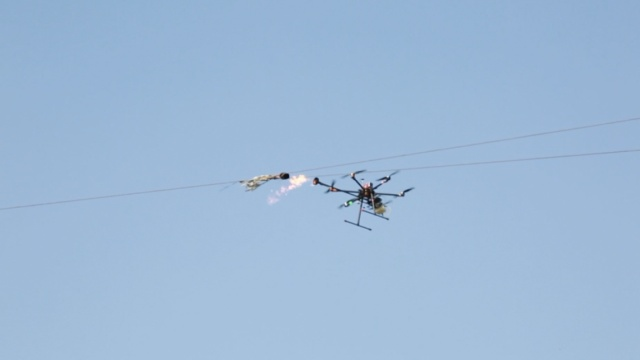 高空电线缠着风筝?没事,有秘密武器