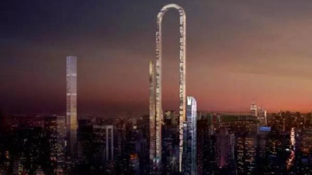 世界最长大楼,电梯可以弯着走!