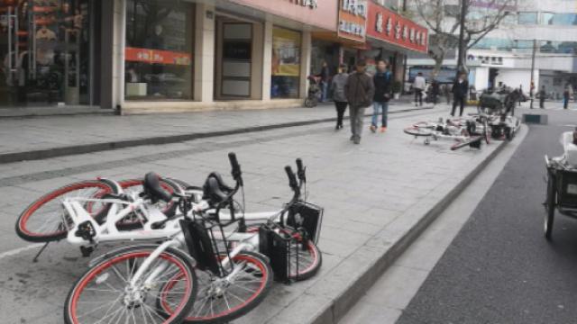 杭州共享单车停车乱象大增