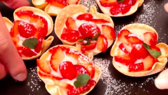饺子皮创意甜点