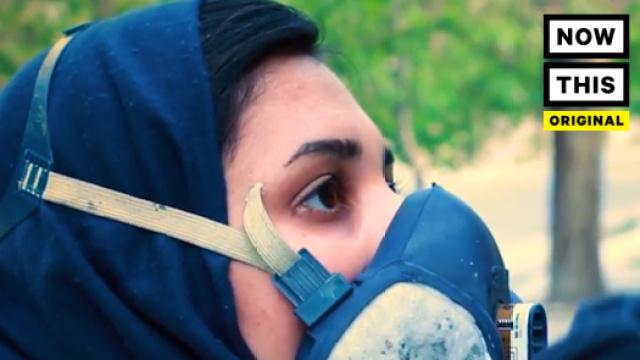 她是阿富汗第一位女性街头艺术家