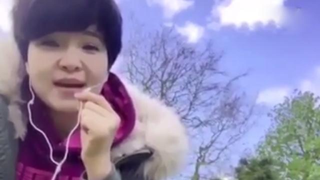 华人妈妈高歌《风中有朵雨做的云》