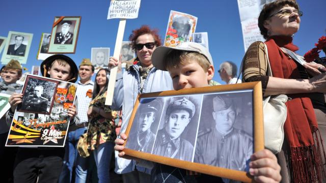 纪念胜利日:世界各地不朽军团游行