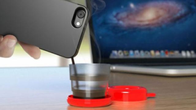 这是一款可以喝咖啡的黑科技手机壳