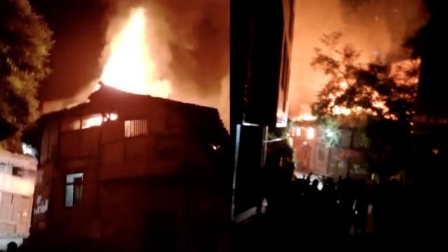 老翁点蜡烛引燃房屋,遭大火吞噬