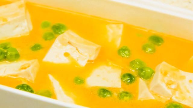 """豆腐搭上""""假蟹黄"""",好鲜!"""