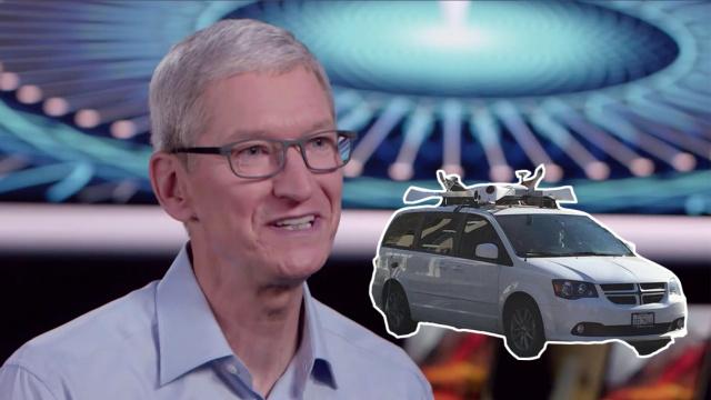 库克首次公开苹果无人驾驶计划