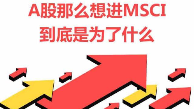 6万亿美元的决定,中国A股纳入MSCI