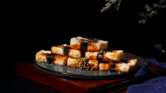 口感鲜嫩,营养丰富,照烧海苔豆腐