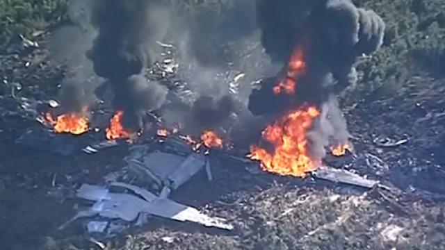 美军机坠毁,机上16人全部遇难