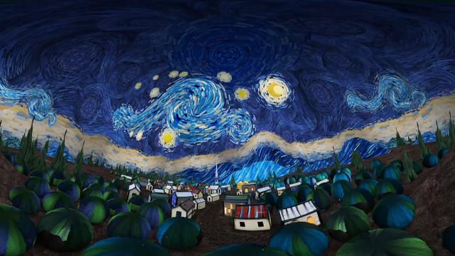 VR带你360°走进梵高的 《星月夜》