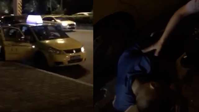 男子醉酒躺车底,市民以为车祸报警