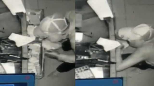 男子蒙面偷超市,偷了一次又跑回偷
