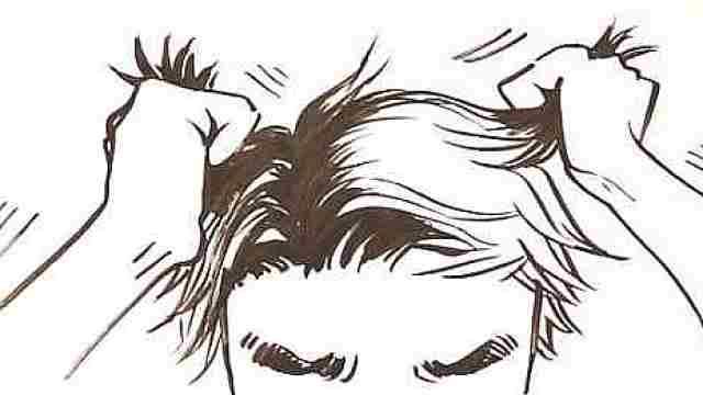 年纪轻轻的一个人,怎么就秃了呢?