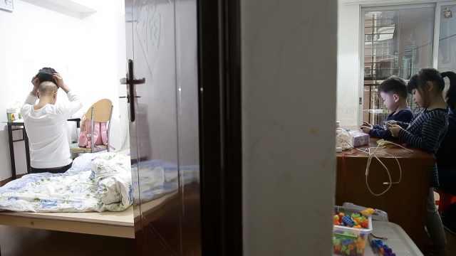 37岁女子为娃抗争病魔2年,头发掉光