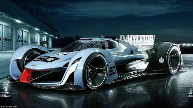 现代出品,未来款新能源概念赛车