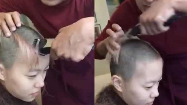 窦靖童剃发出家?回应称头发重新长