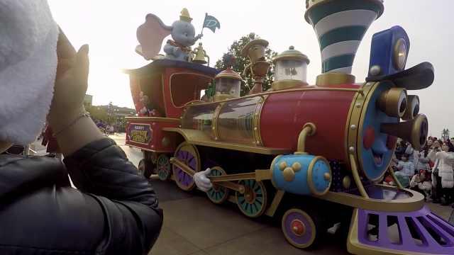 迪士尼花车攻略!小飞象专列
