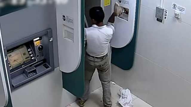 他猛砸ATM:想进监狱躲债,包吃包住