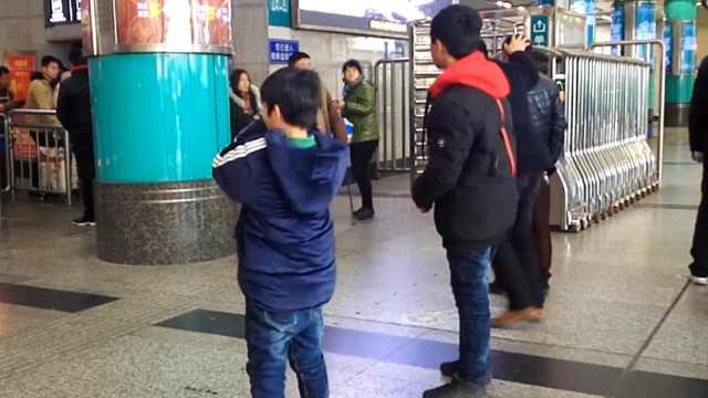 火车站接外公外婆,称好想见