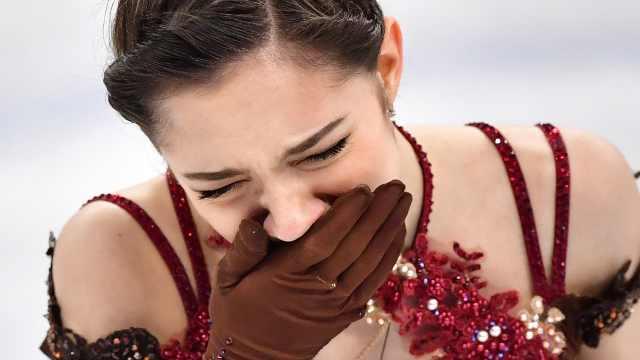 俄花滑女王失金痛哭,仍是完美女神