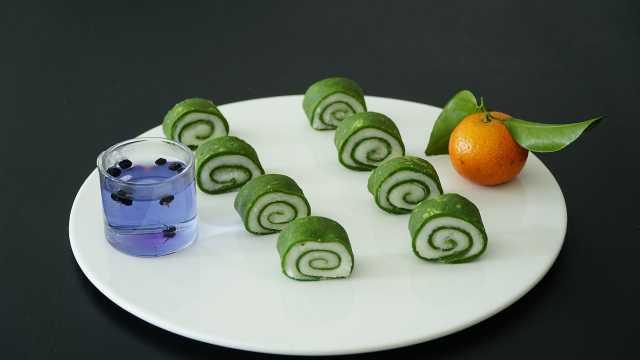 翡翠山药卷,营养美味又健康