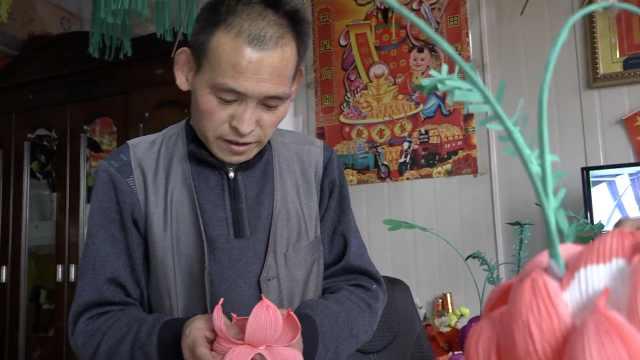 他祖传4代做花灯,称春节收入过万