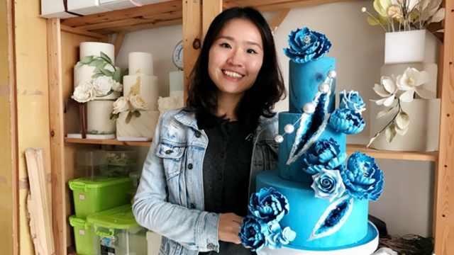 80后翻糖师:吴敏霞婚礼用她的蛋糕