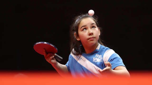 乒乓天才!11岁华裔少女成欧洲最强