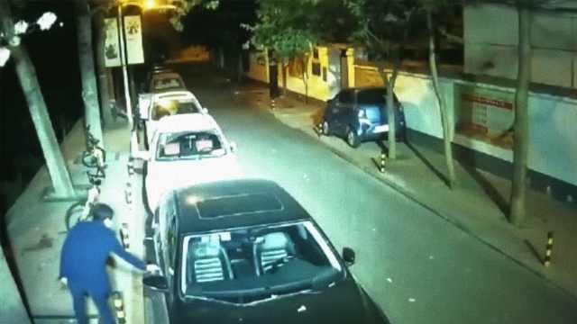 他深夜拉车门行窃,竟称砸车太暴力