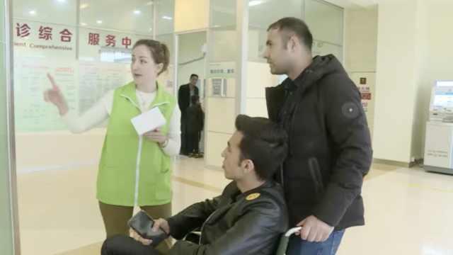 乌克兰姑娘远嫁中国,当医院志愿者