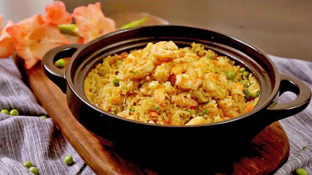 香蒜虾焖饭,好吃到让人流口水