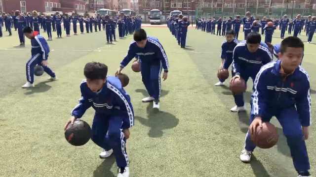 篮球操配网红曲,千名萌娃炫技升级