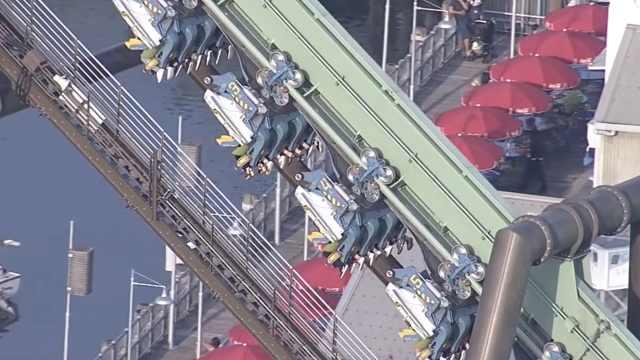 日本过山车故障,乘客高空倒挂2小时