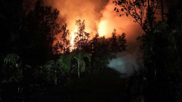 火山爆发岩浆喷,夏威夷1700人撤离
