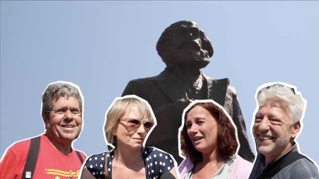 马克思故乡民众感谢中国赠送雕像