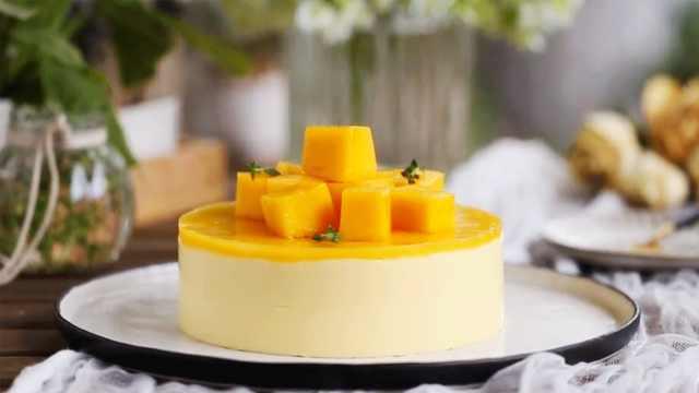芒果做慕斯,好吃又好看