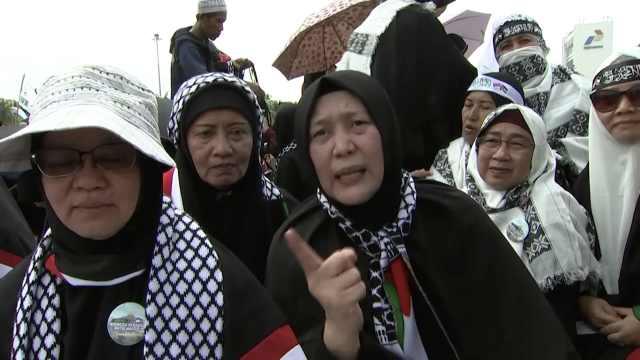 美大使馆迁耶路撒冷,印尼民众抗议