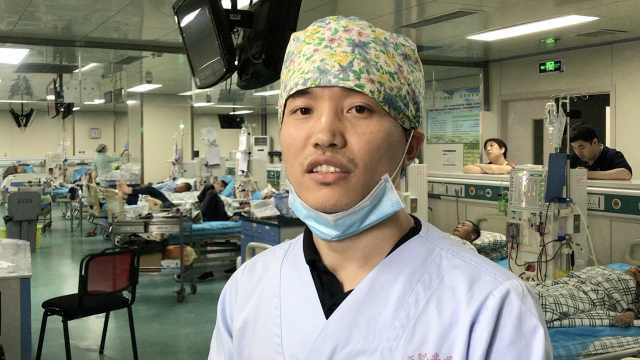 他做护士8年,曾为救人离开发烧女儿