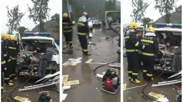 救护车司机顺路带妻儿,撞车儿身亡