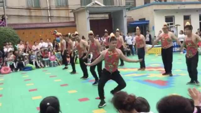 鸭子舞音乐下载_宝爸们为娃跳鸭子舞,油腻中有点萌_一手Video-梨视频官网-Pear Video