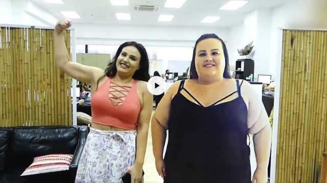 励志!三百多斤女生减重去皮变女神